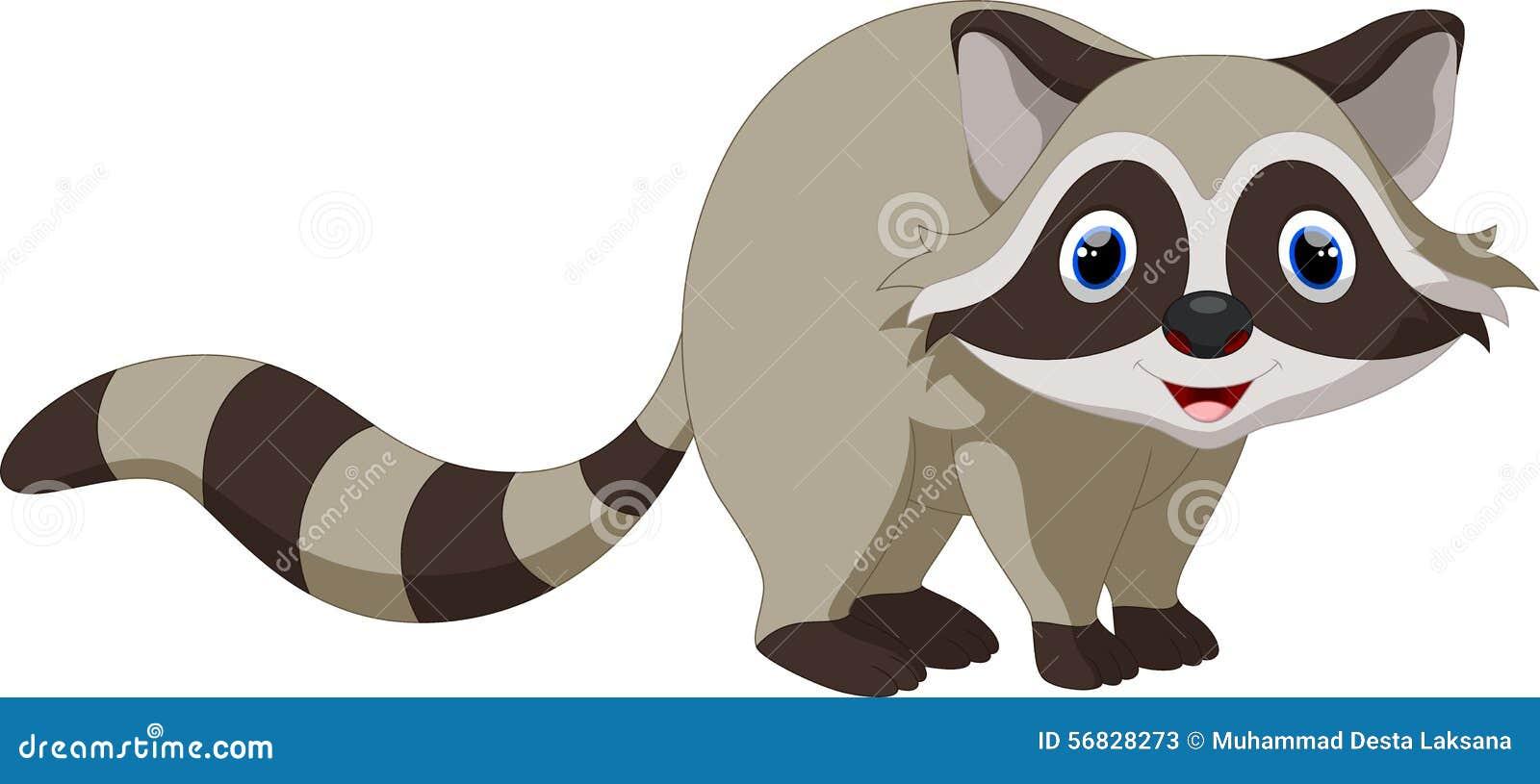 Cute Raccoon Cartoon Stock Illustration - Image: 56828273 Raccoon Drawing Easy