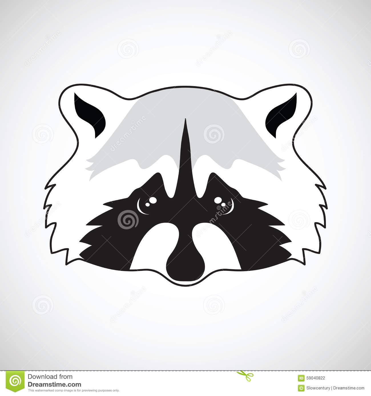 Cute Raccoon Face. Vector Illustration Stock Vector ... Raccoon Face Illustration