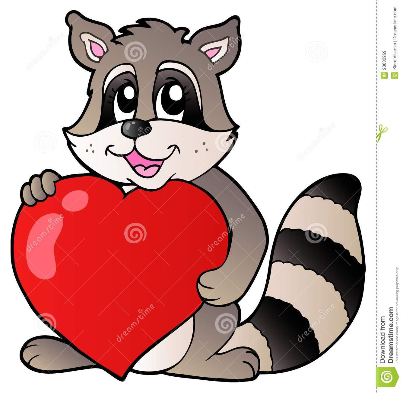 Cute Racoon Holding Heart Royalty Free Stock Images ... Raccoon Drawing
