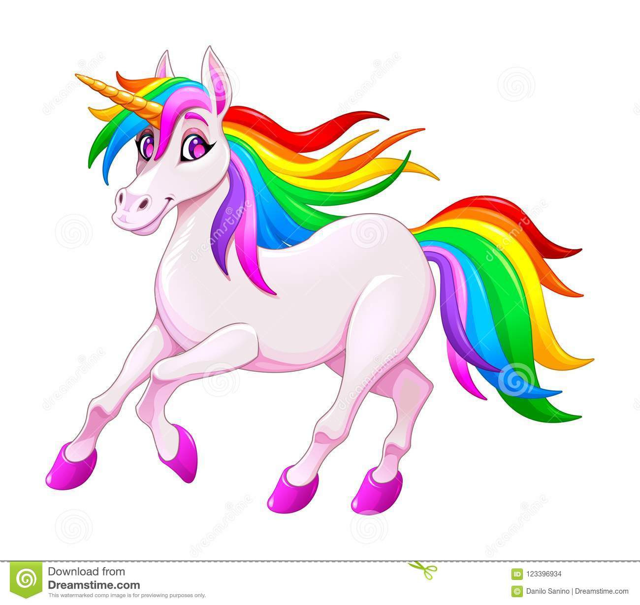 Cute rainbow unicorn stock vector. Illustration of pony ...