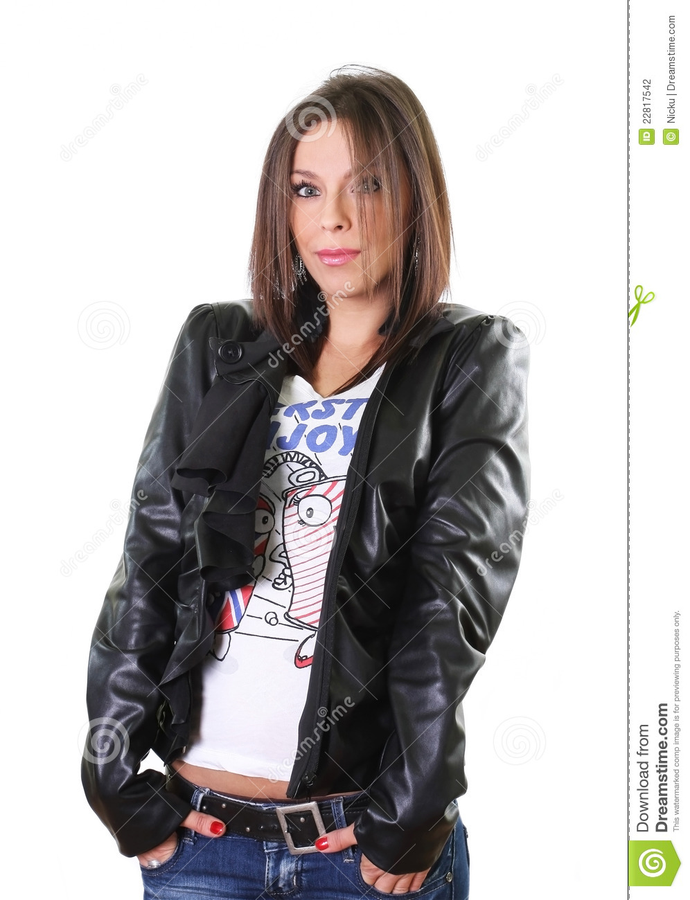 Girls in leather jackets