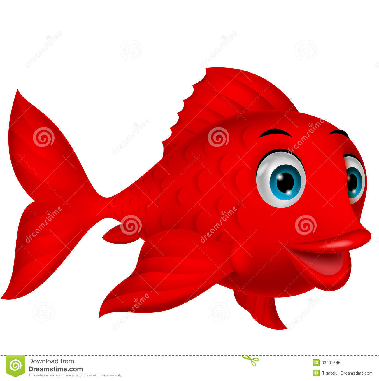 Royalty Free Stock Photo Cute Red Fish Cartoon Illustration Image33231645 on fish cartoon character