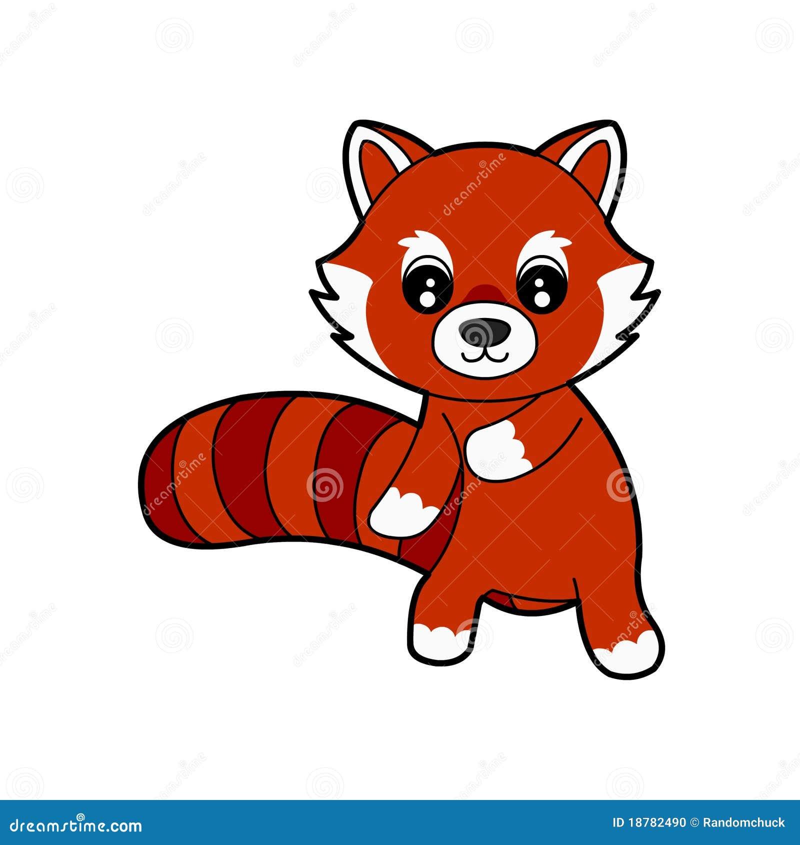 Cute Red Panda Illustration 18782490 Megapixl