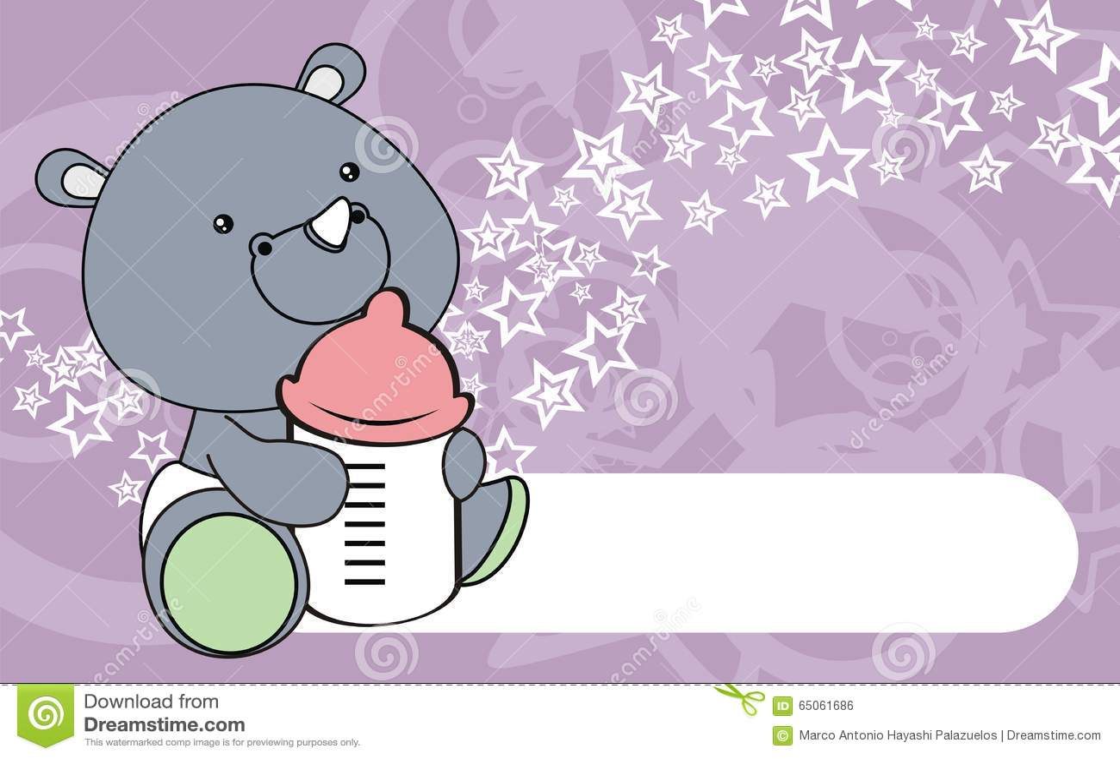 Cute rhino baby cartoon background stock vector illustration cute rhino baby cartoon background voltagebd Images