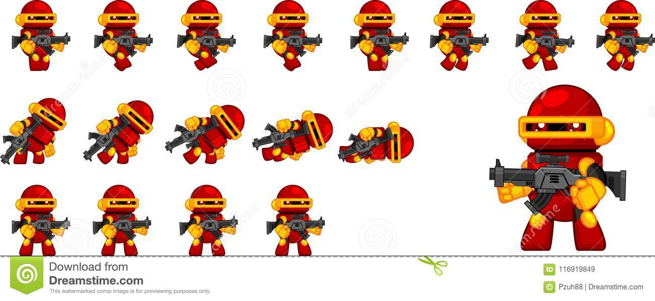 cute robot character sprites stock vector illustration of