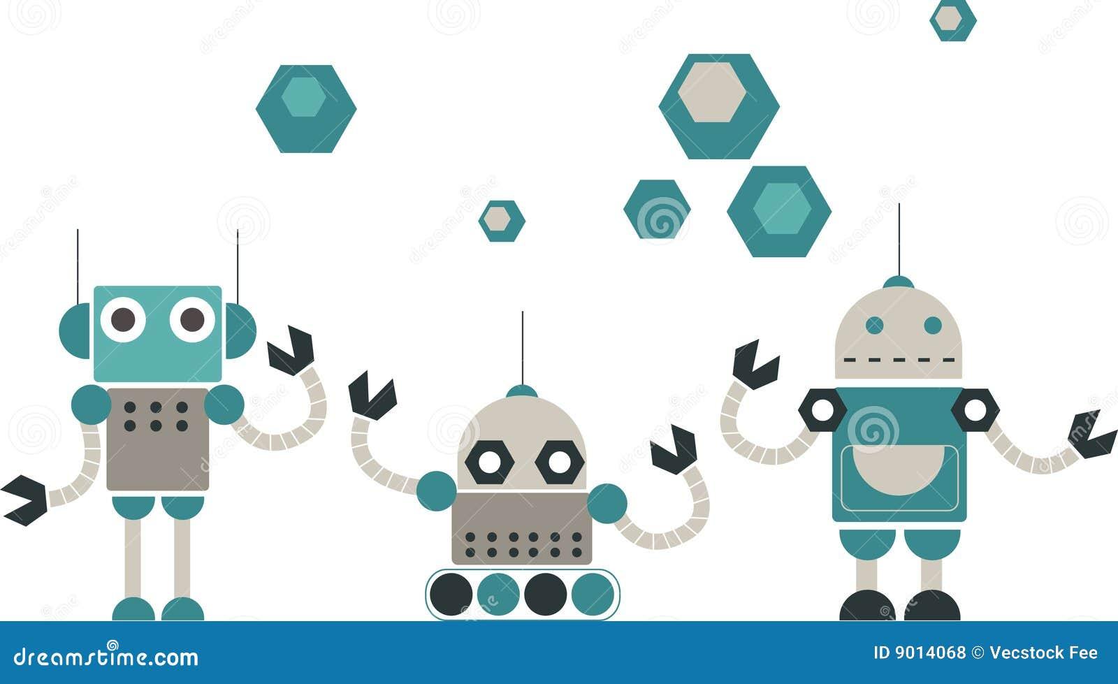 Cute Robots Design Roy...