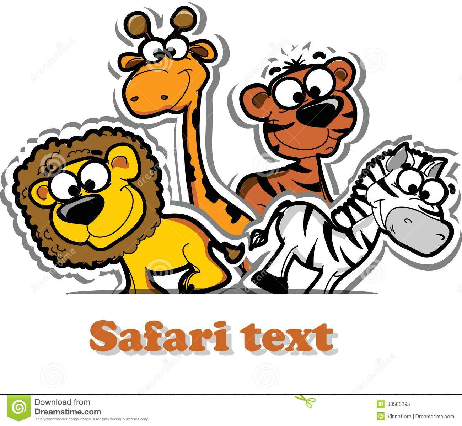 With Cute Safari Animal Vector Illustration Picture