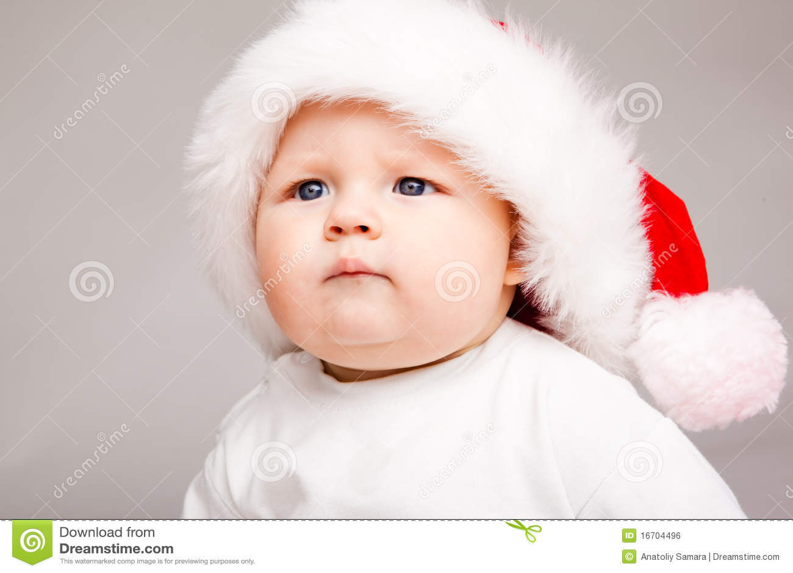 0daa20f73 Cute Santa baby stock photo. Image of isolated, child - 16704496