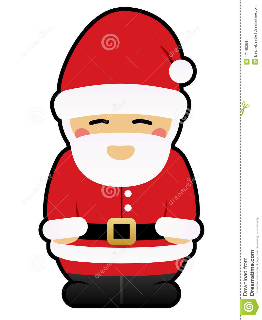 cute santa claus stock images image 17145384