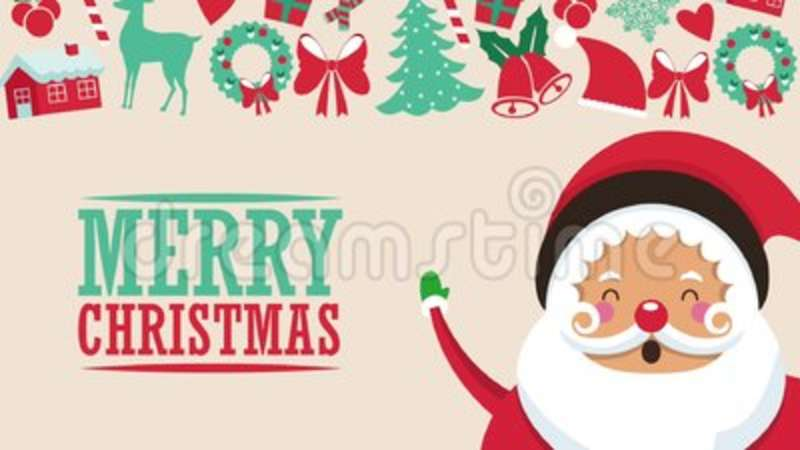 Cute Santa Claus Cartoon Hd Animation Stock Footage Video Of