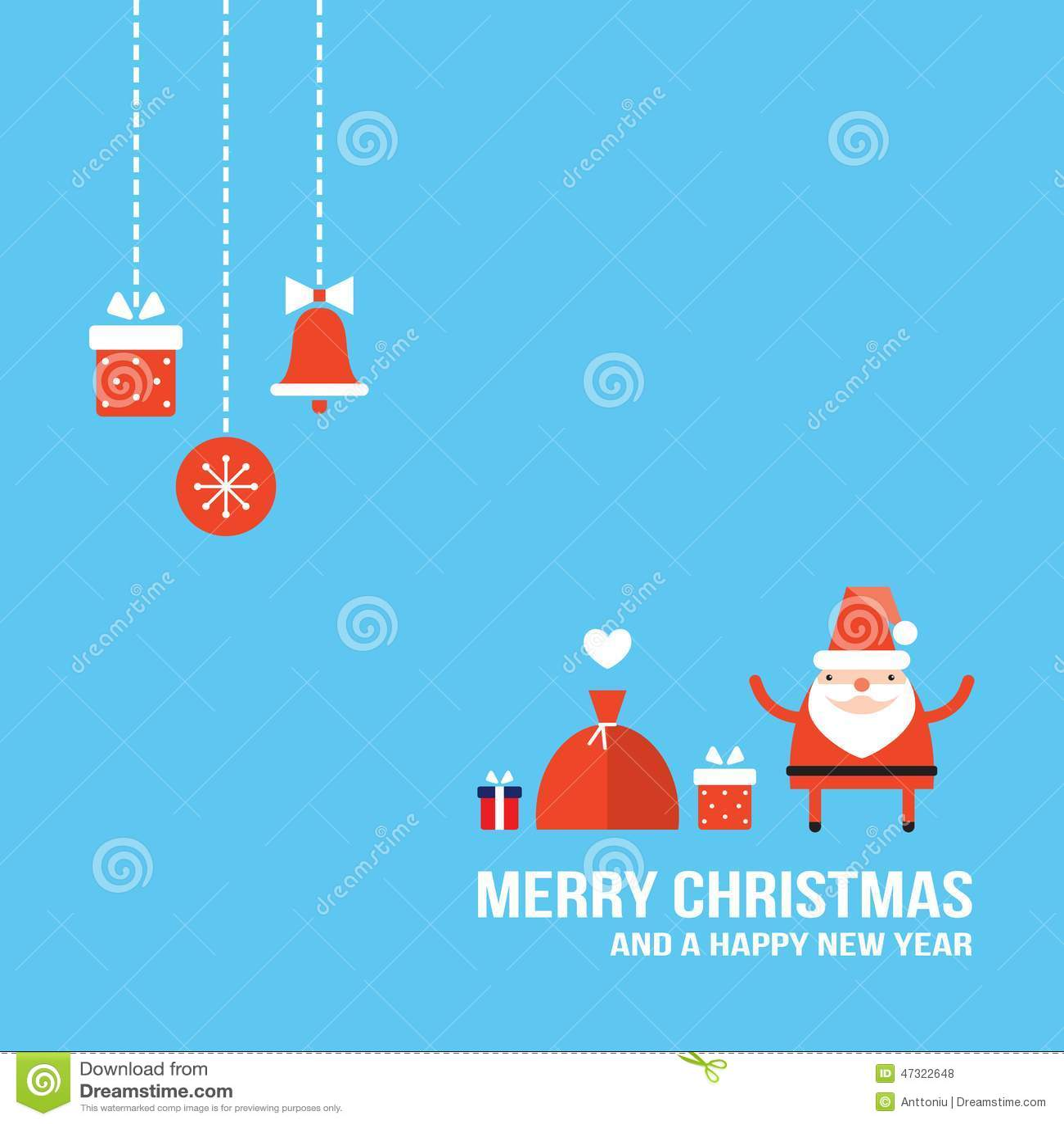 Cute santa claus new year christmas holiday greeting card flat cute santa claus new year christmas holiday greeting card flat design sale lovely kristyandbryce Gallery