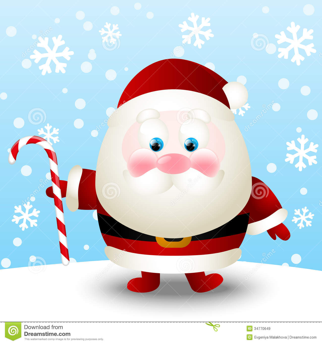 With white christmas background and snow vector vector background - Cute Santa Stock Vector Image Of Xmas Vector