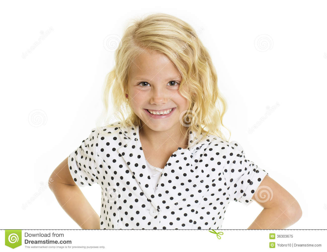 portrait of a cute sassy little girl  Isolated on a white backgroundSassy White Woman