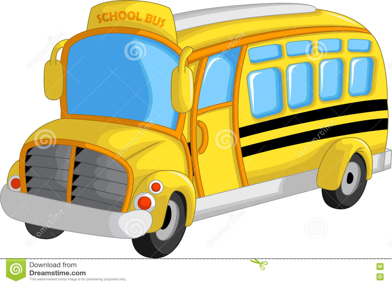 how to draw a school bus cartoon