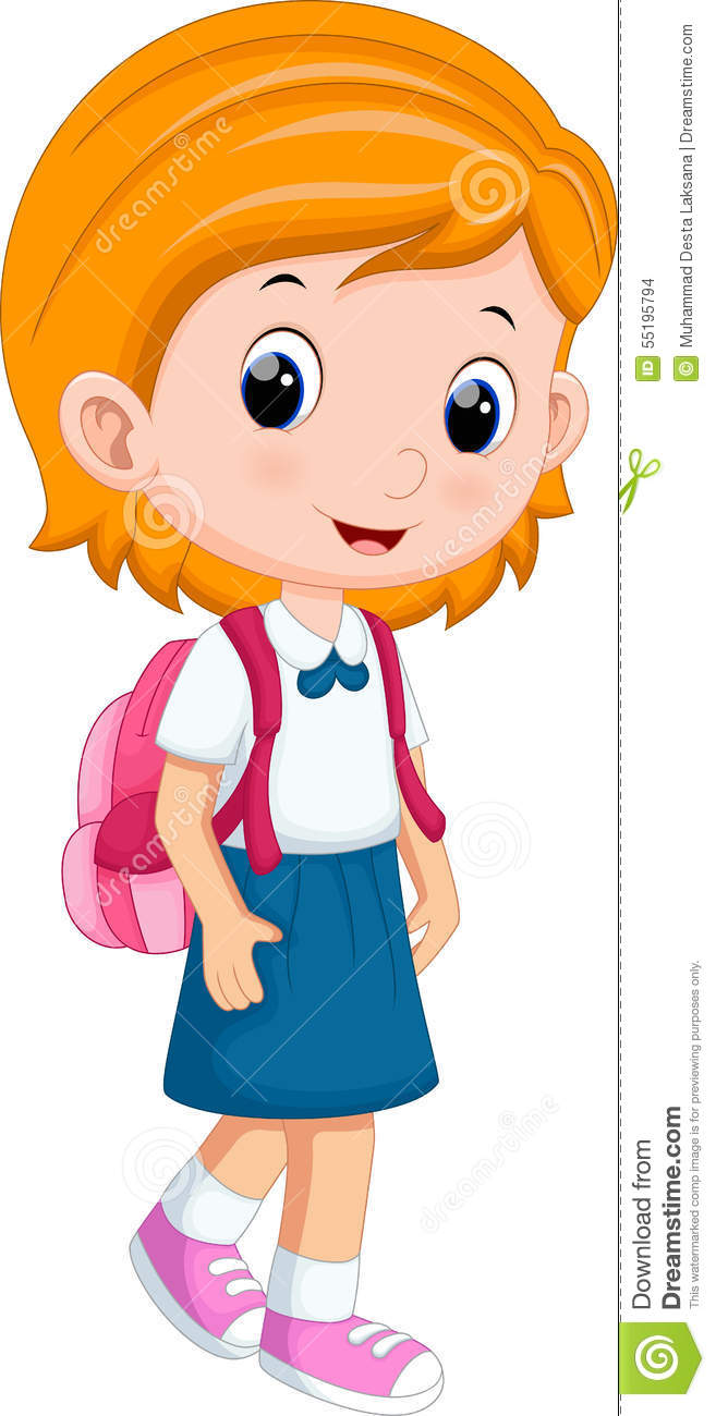 Cute girl in uniform going to school. Designers Also Selected These Stock  Illustrations 5946da8302541