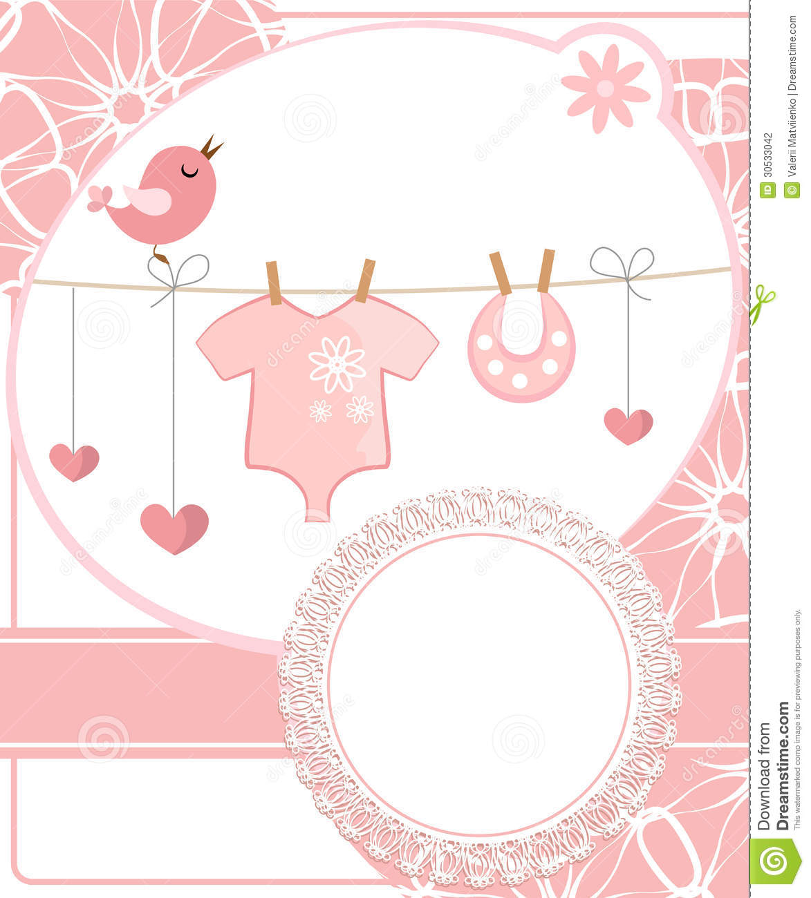 How to scrapbook for baby girl - Cute Scrapbook For Girl With Baby Elements