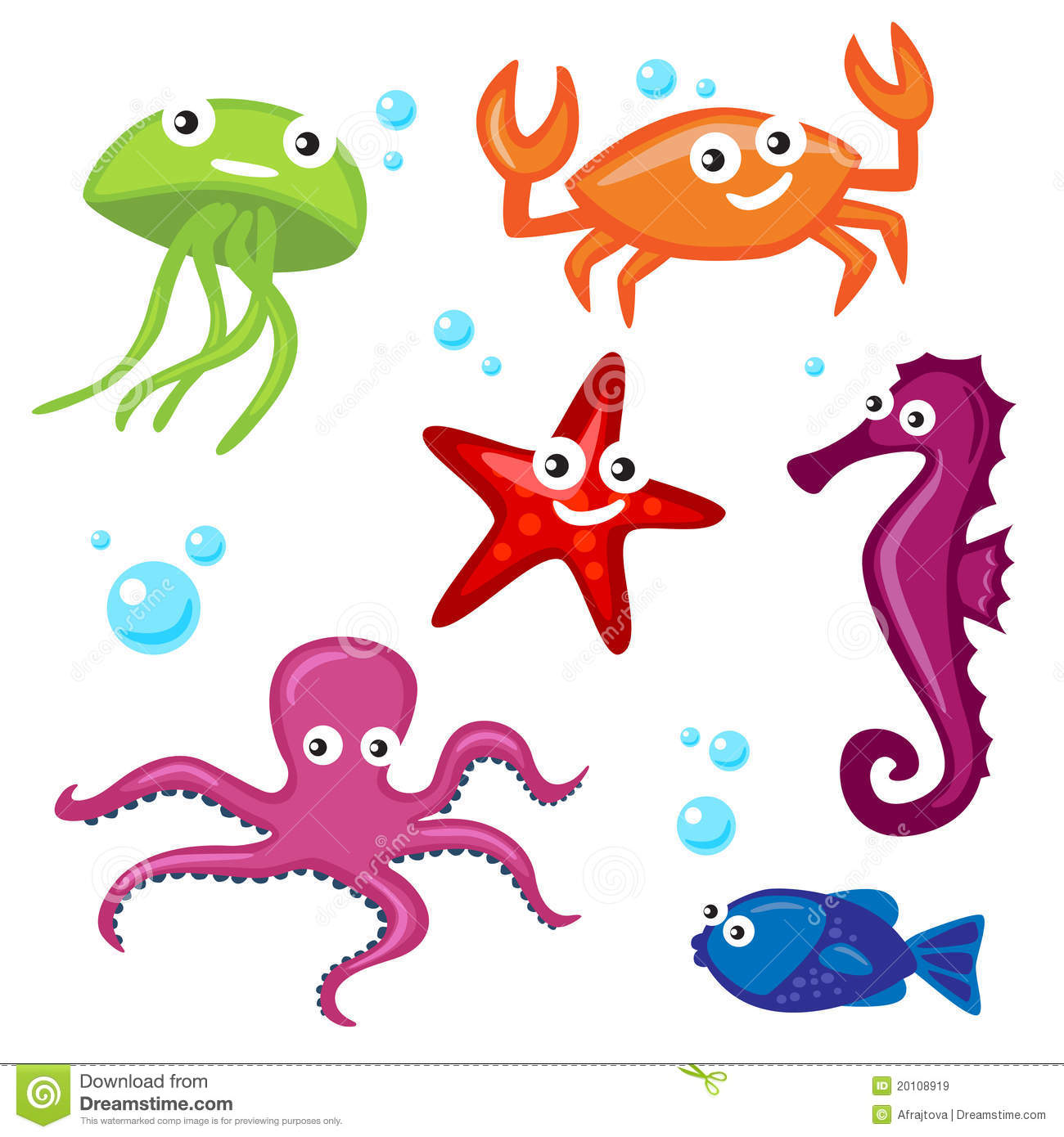 cute sea monsters royalty free stock images image 20108919