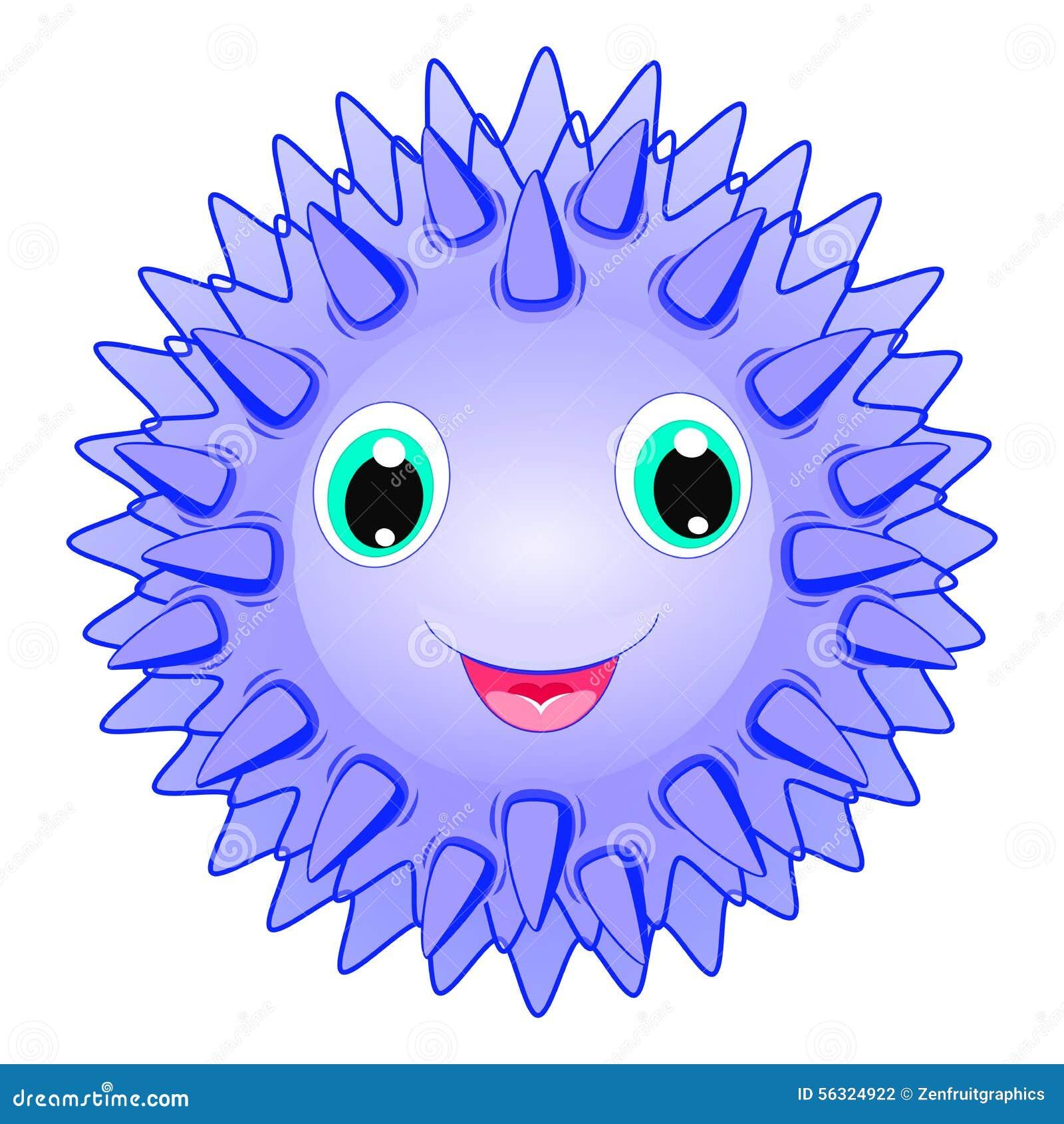 cute sea urchin vector smiling spiky animal cartoon ocean life clipart black and white printable ocean life clip art black and white