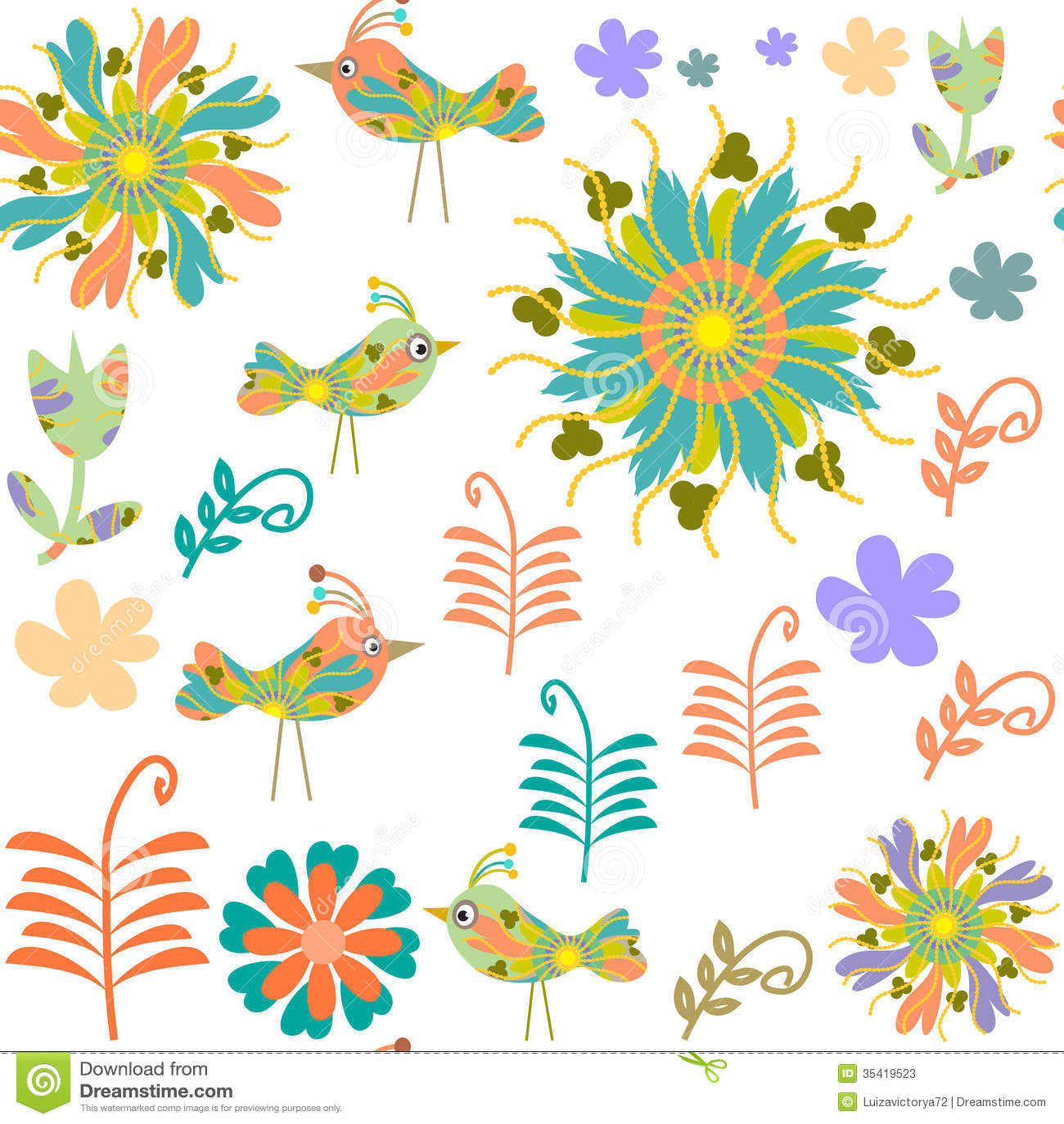 vintage style wallpaper birds