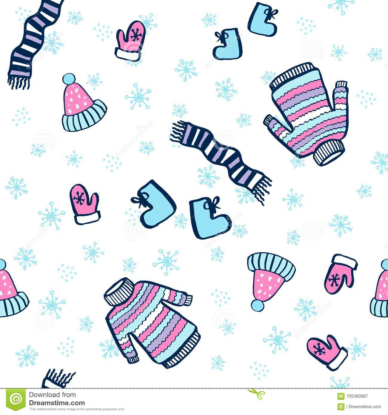 cute seamless pattern winter fun stock vector illustration of