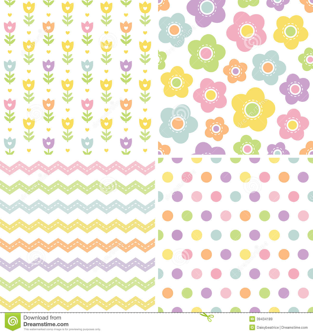 Cute seamless pink and yellow background patterns stock vector royalty free stock photo negle