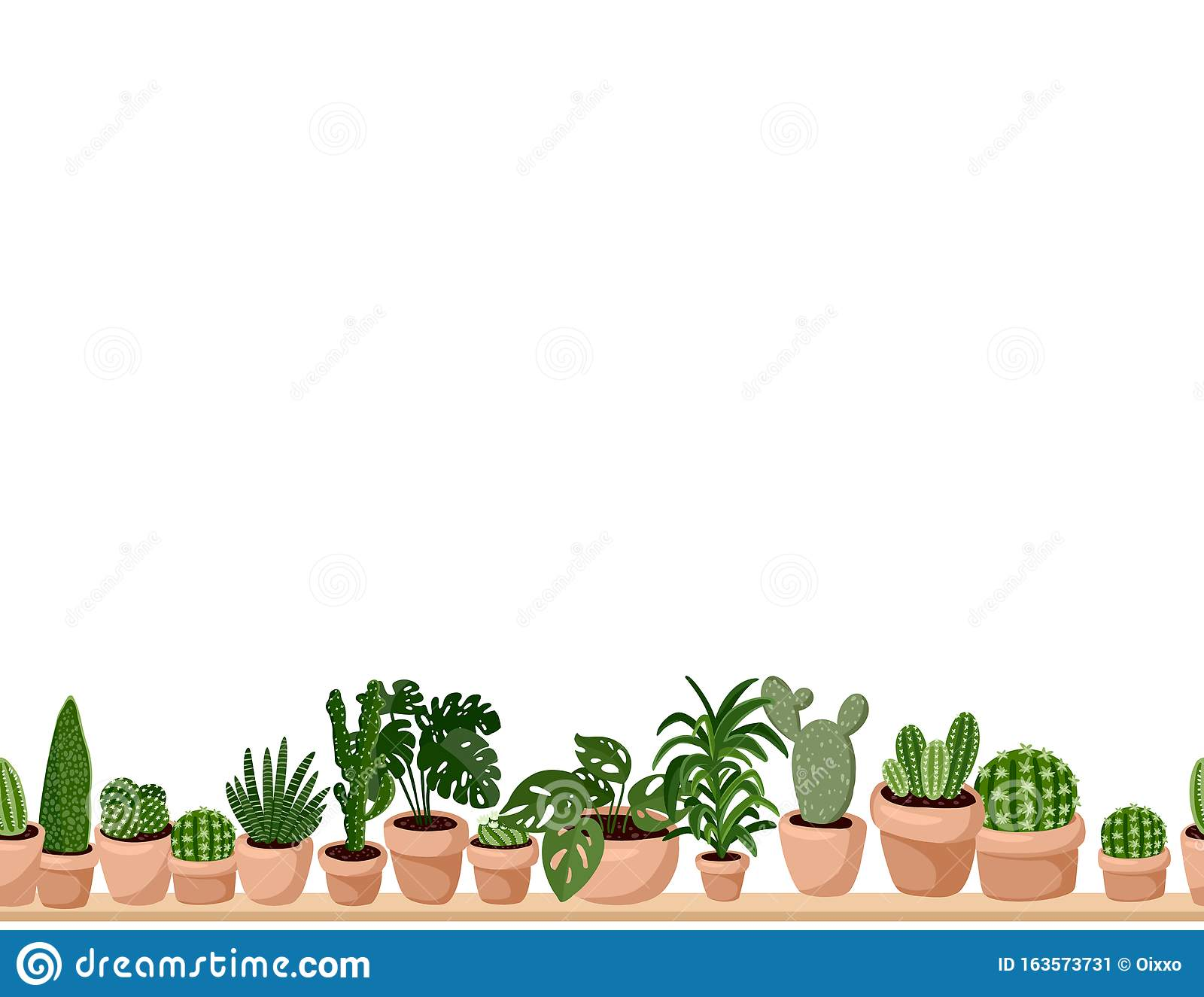 Cute Set Of Hygge Potted Succulent Plants Seamless Pattern Letter Format Lagom Scandinavian Style Decoration Background Texture Stock Vector Illustration Of Gardening Cacti 163573731