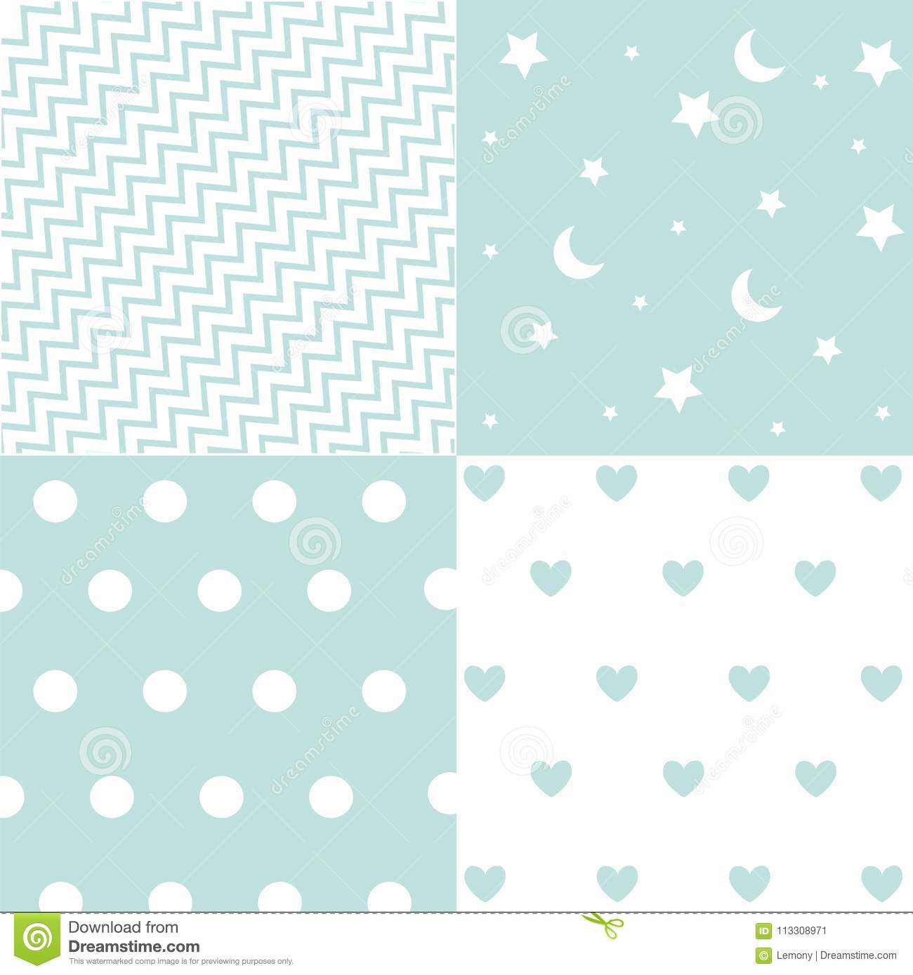 8bebb1a01e9b Cute Set Of Baby Boy Seamless Patterns With Fabric Textures Stock ...