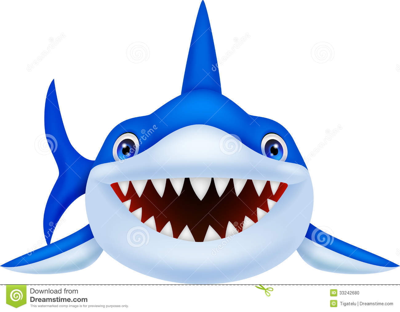 Stock Photo Cute Shark Cartoon Illustration Image33242680 on baby mouth clip art