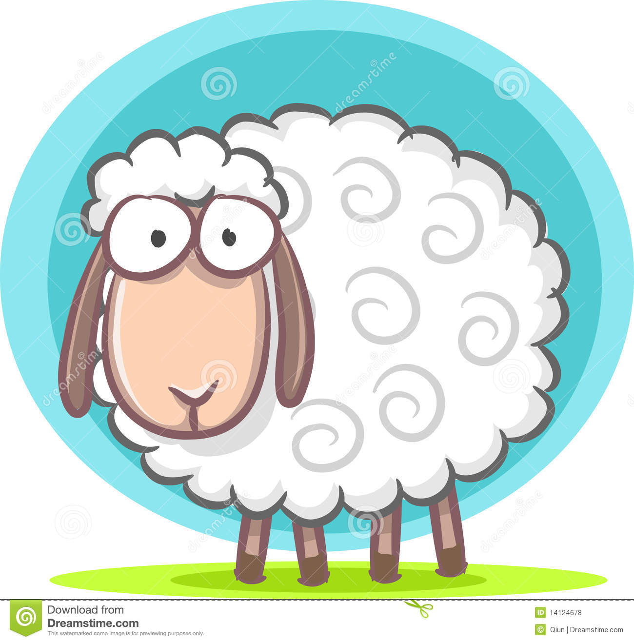 Cute sheep stock vector image of funny sketch cute - Image mouton dessin ...