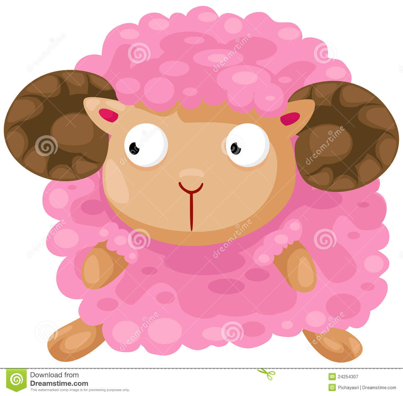 Cute Sheep Royalty Free Stock Photography Image 24254307