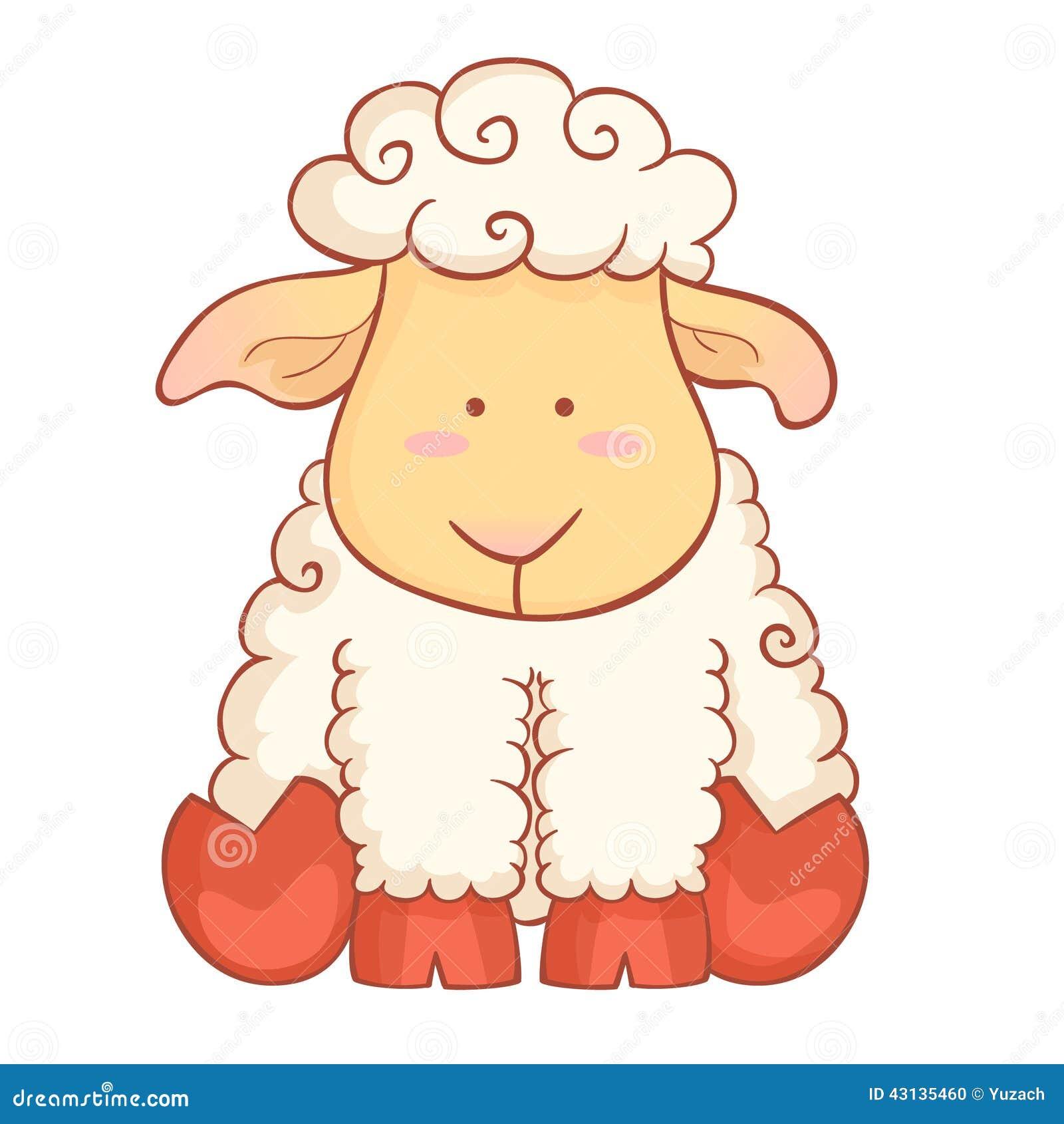 Cute sheep character of chinese new year symbol stock vector cute sheep character of chinese new year symbol biocorpaavc