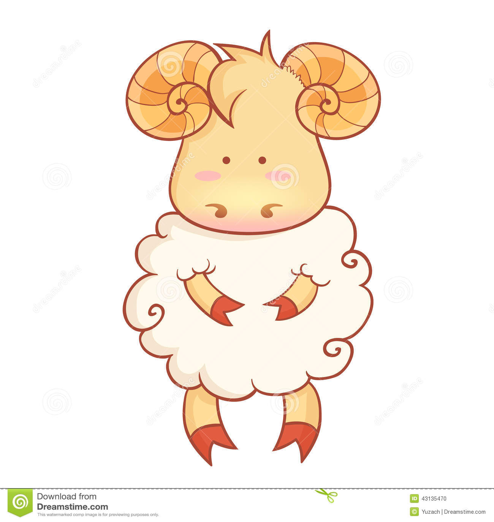 Cute sheep character of chinese new year symbol stock vector cute sheep character of chinese new year symbol farm lamb biocorpaavc