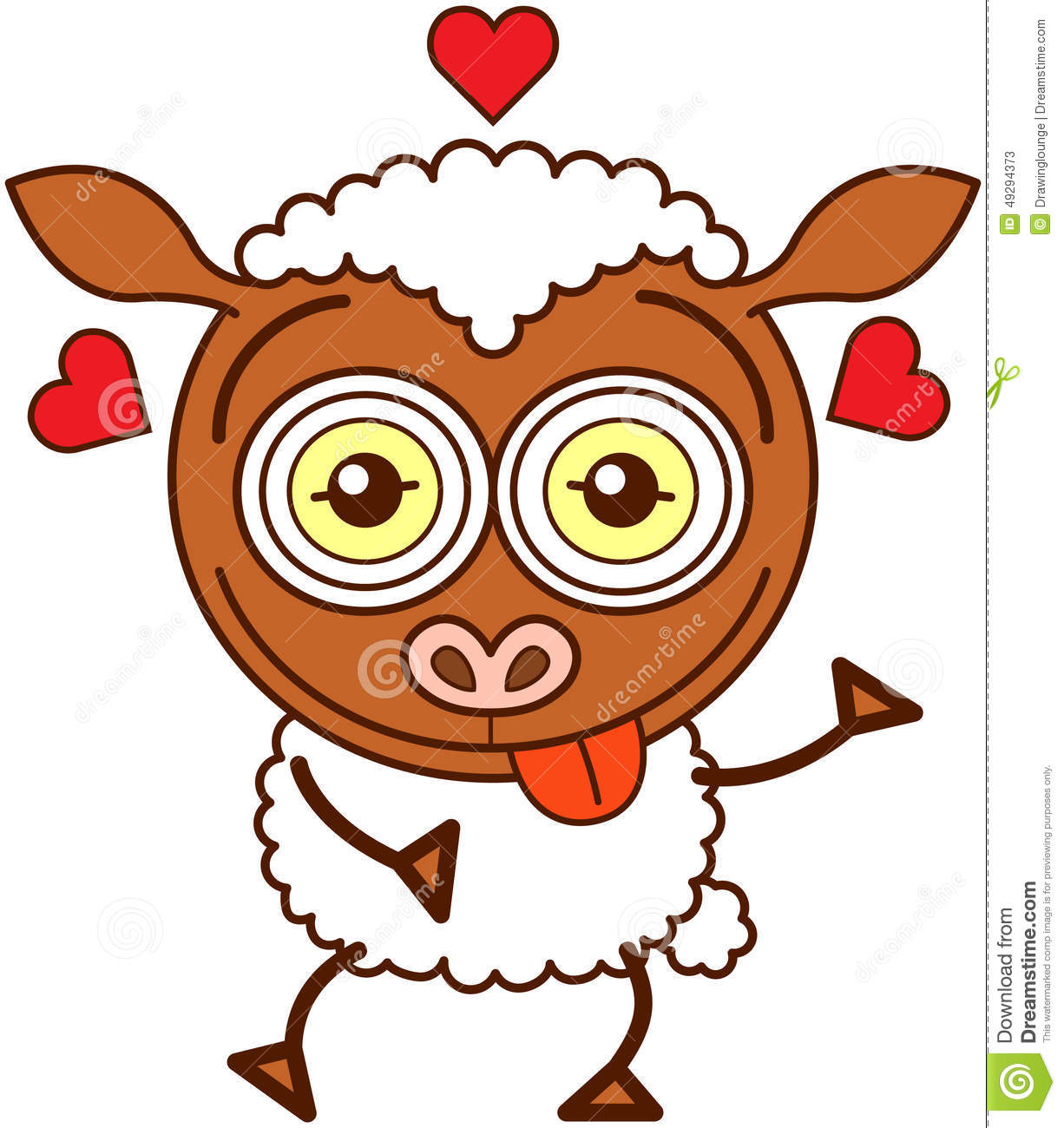 Cute sheep felling madly in love