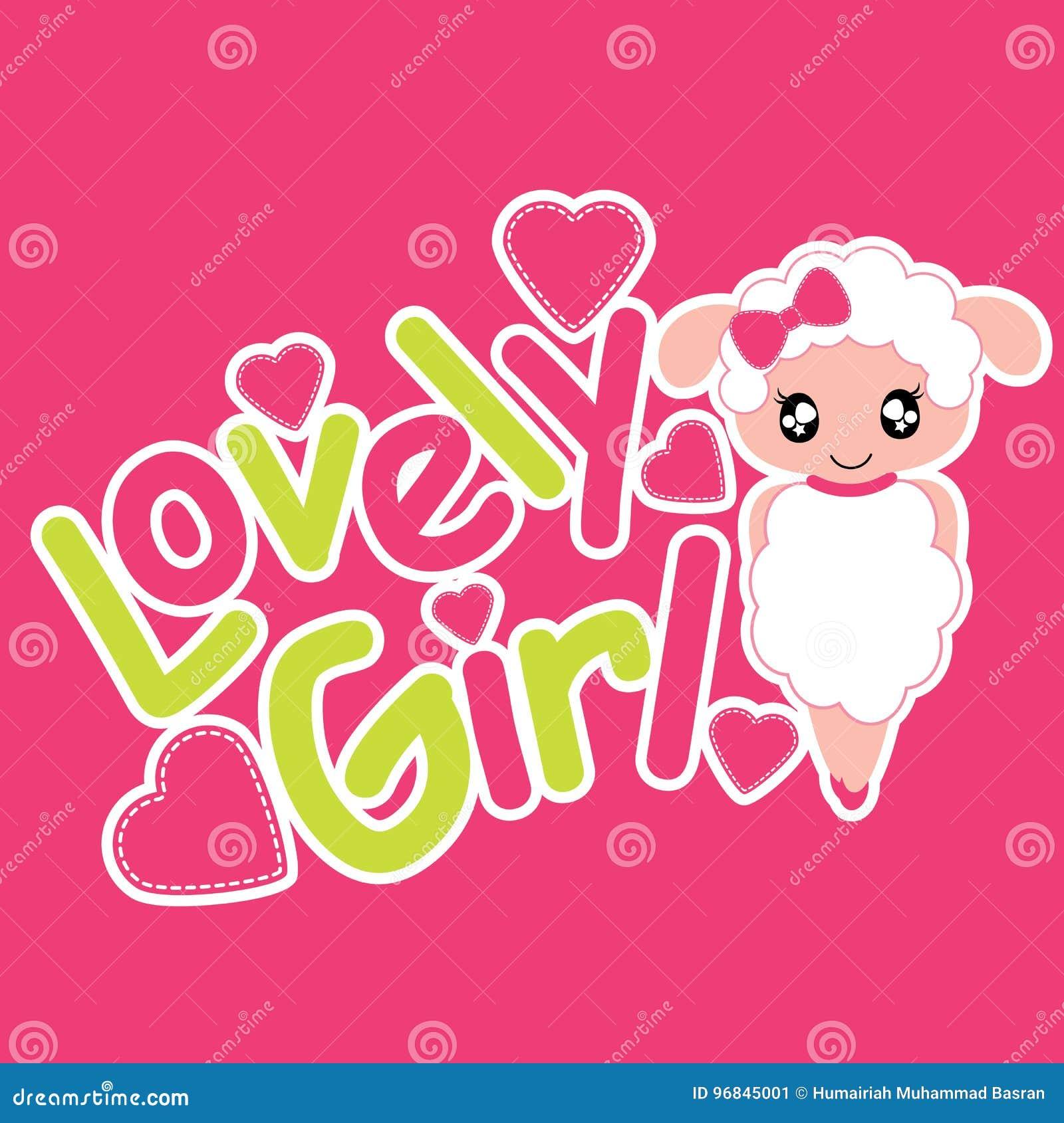 I Love Heart Sheep Ladies T-Shirt