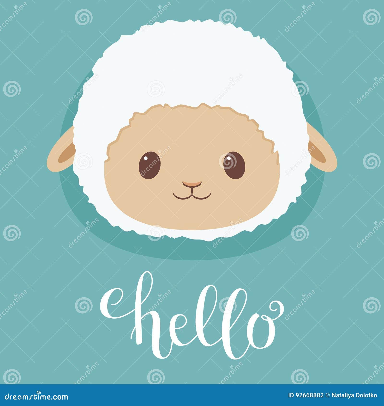 Cute Sheep Lamb Head Stock Vector Illustration Of Character 92668882