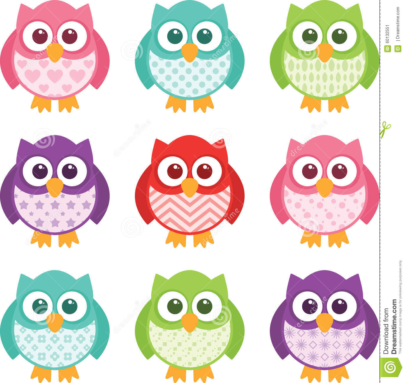 Free House Plans For Students Cute Simple Cartoon Patterned Owls Stock Vector