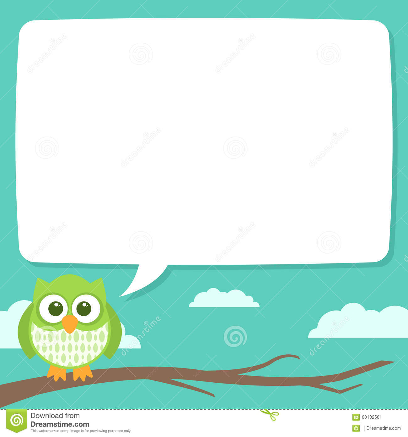 cute simple cartoon patterned owls  speech bubble stock Baby Owl Clip Art free owl on a branch clipart