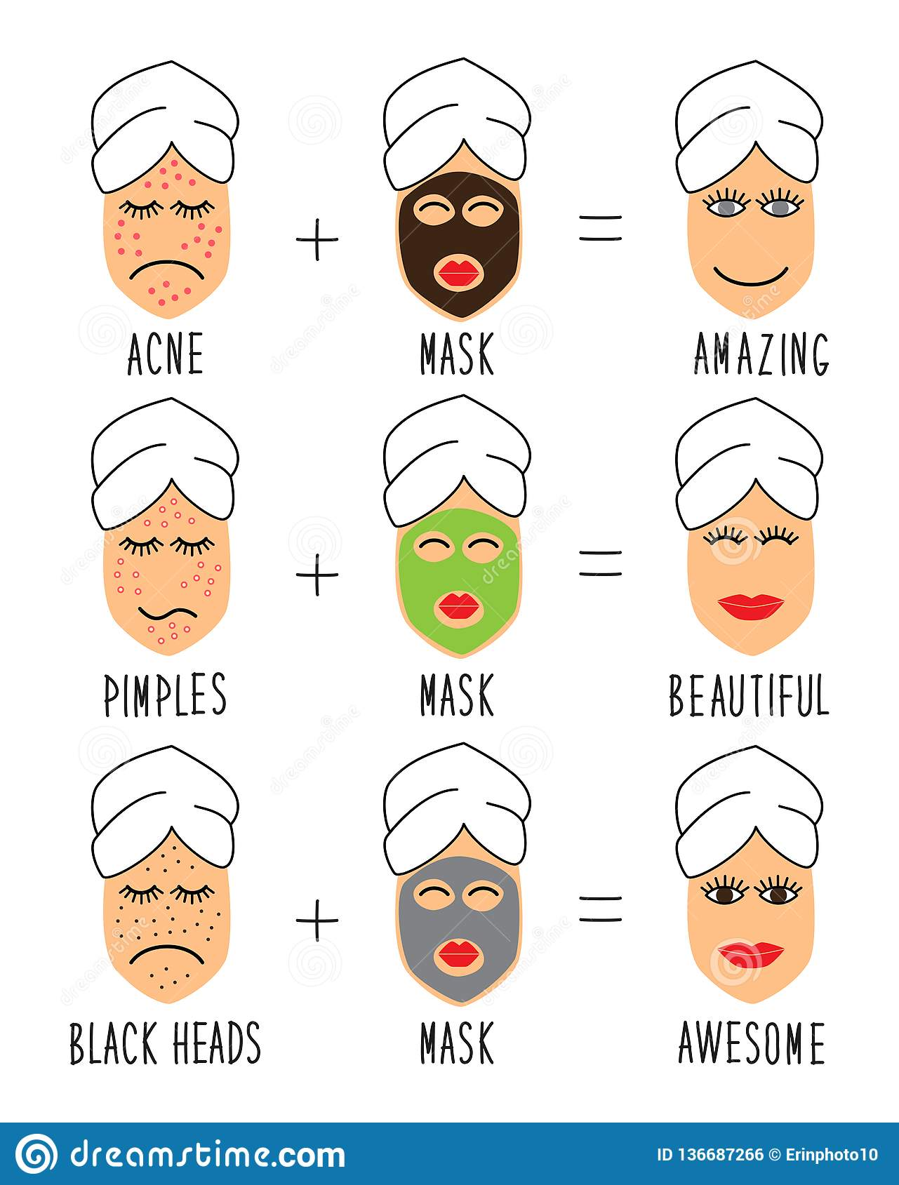 Cute And Simple Skincare Tips For Acne, Pimples, Black Heads