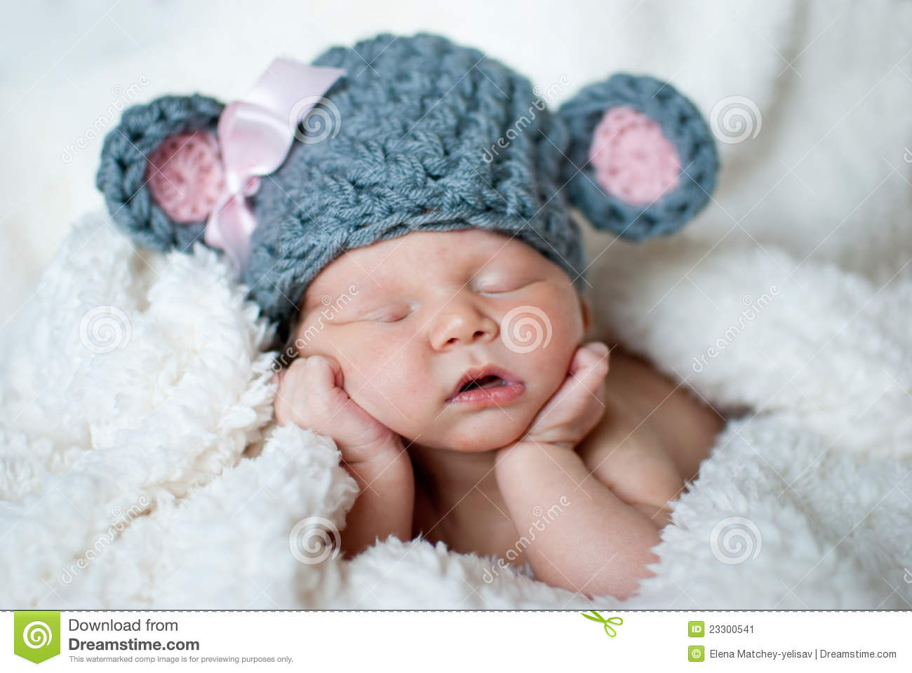 Cute Sleeping Baby Stock Image  Image: 23300541