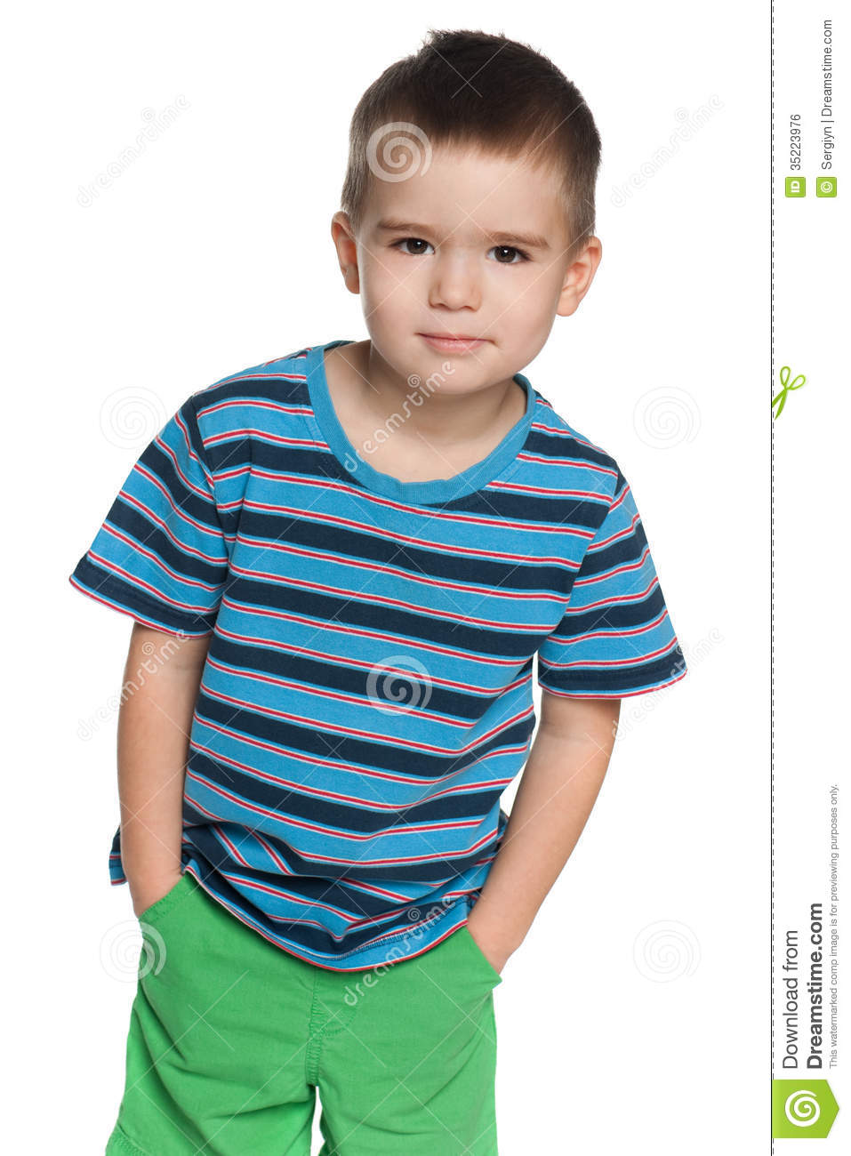 Cute small boy stock photo. Image of white, front, fashion ...