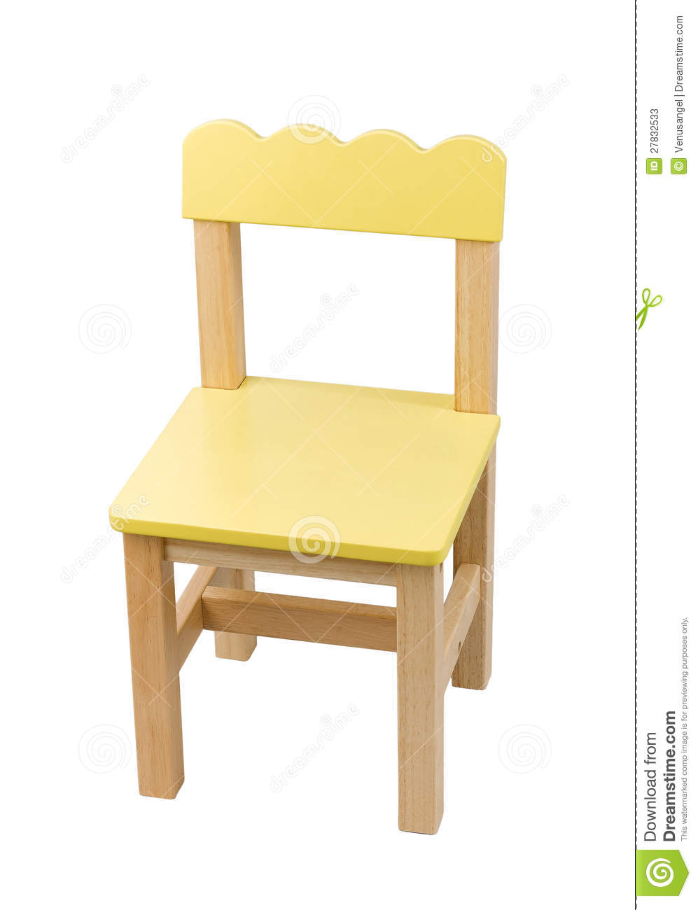 cute small chair for child stock image image of wooden 27832533