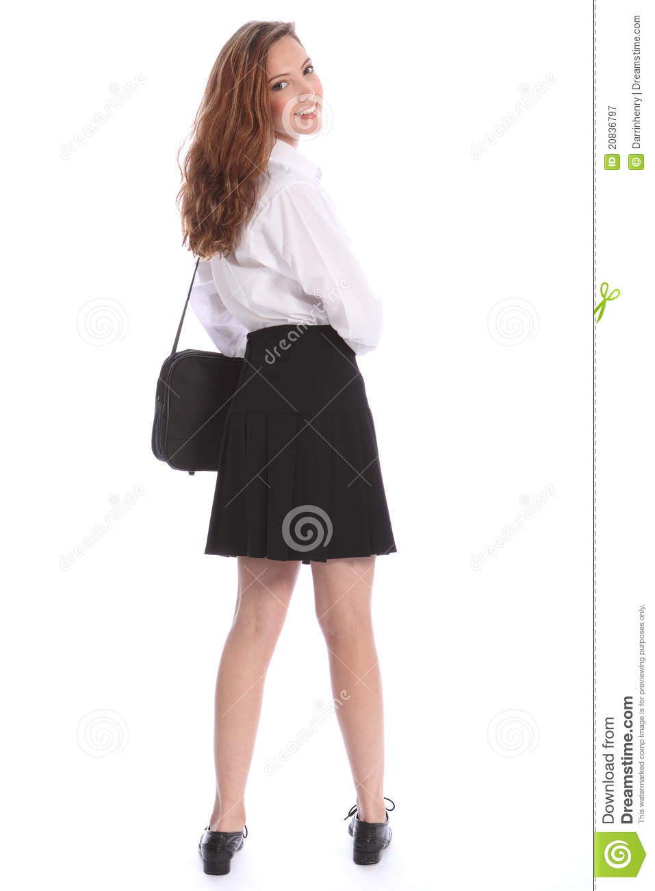 Cute Smile Teenage Student Girl In School Uniform Royalty Free Stock ... Happy High School Student Clipart