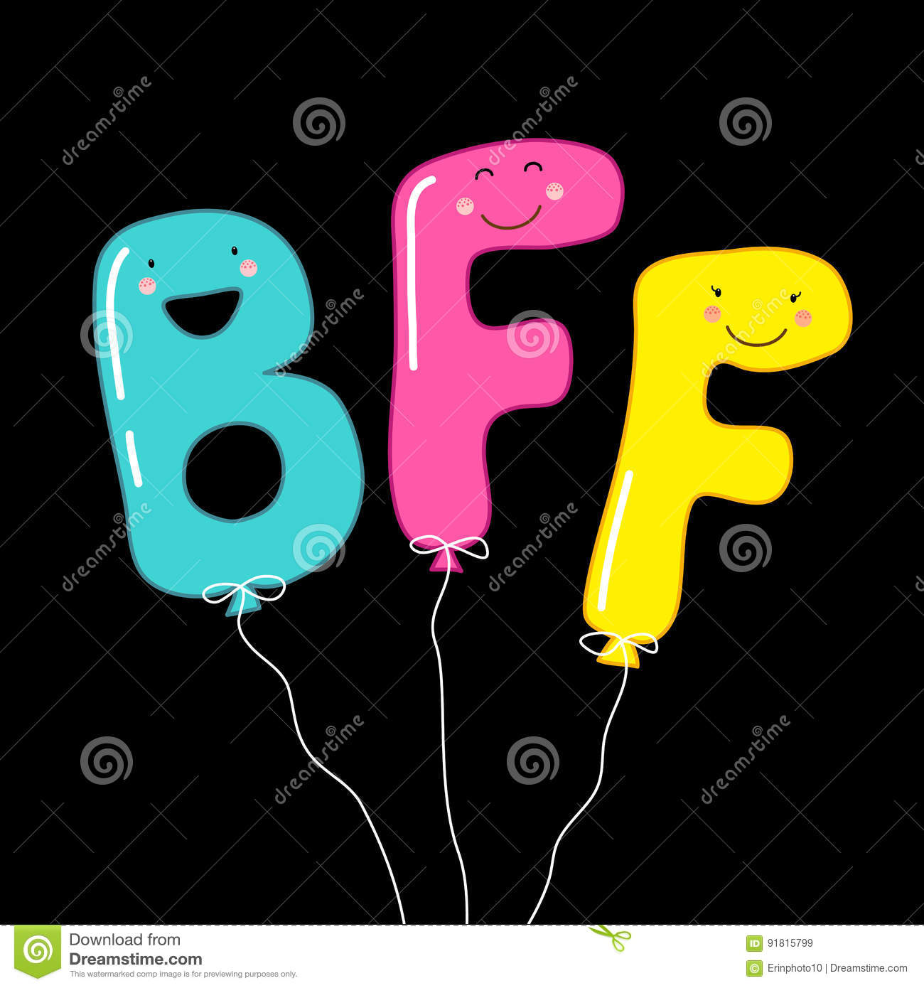 Cartoon Characters 7 Letters : Cute smiling cartoon characters of letters bff best
