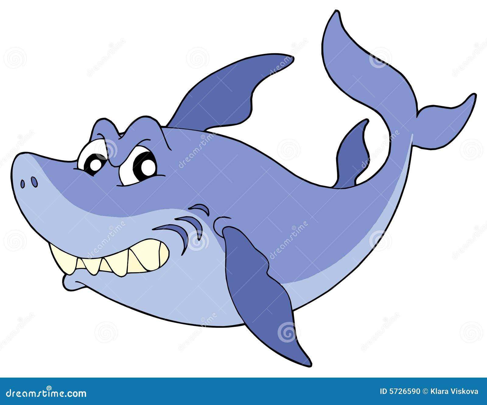 Cute Smiling Shark Vector Illustration Stock Vector ...