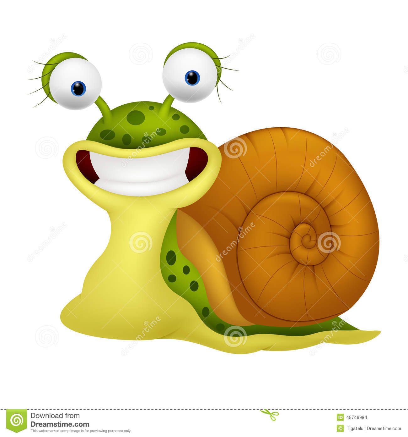 Cute snail cartoon stock vector illustration of home - Clipart escargot ...