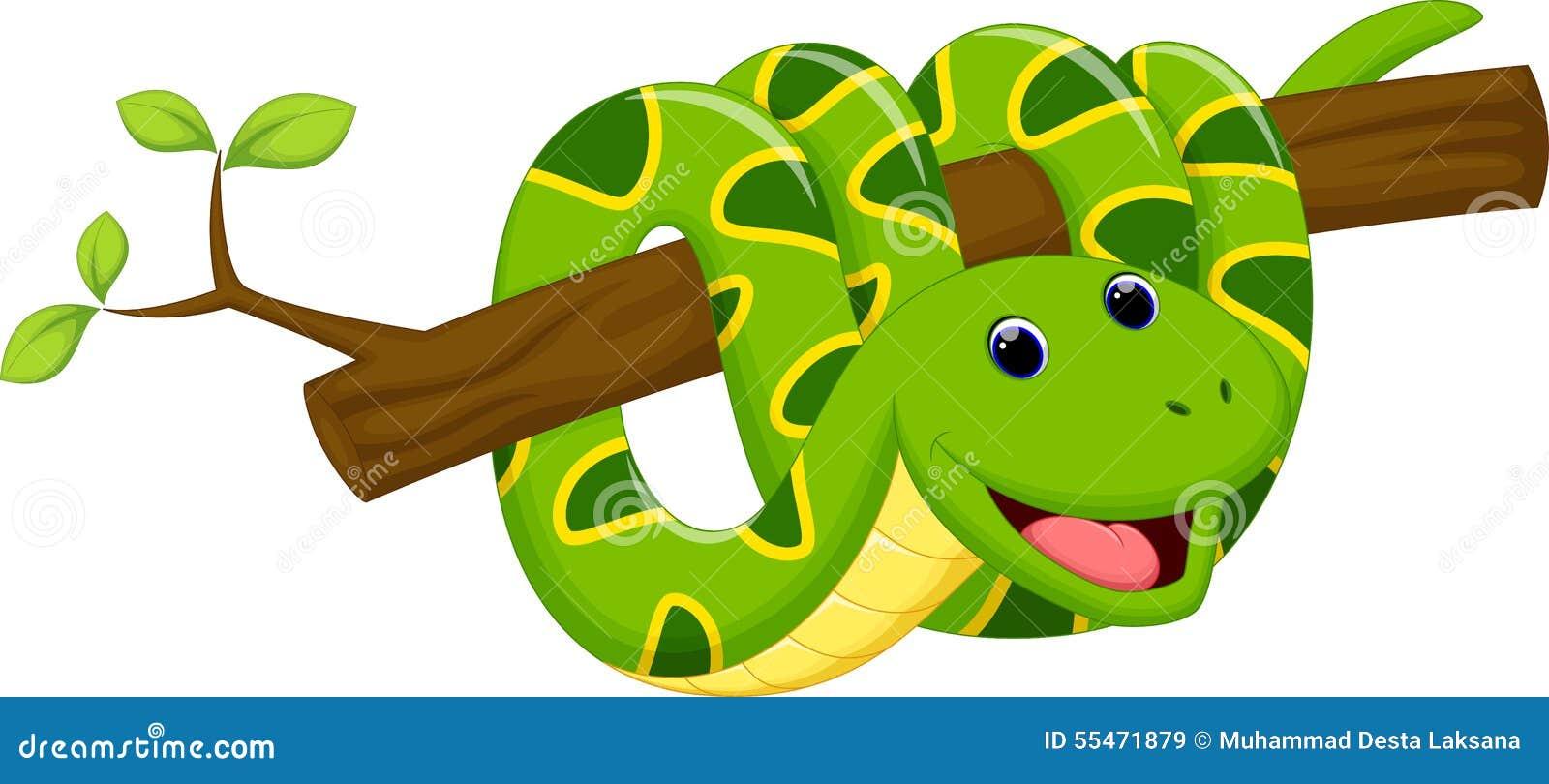 Green snake cartoon royalty free stock image image 19462406 - Cute Snake Cartoon Royalty Free Stock Images
