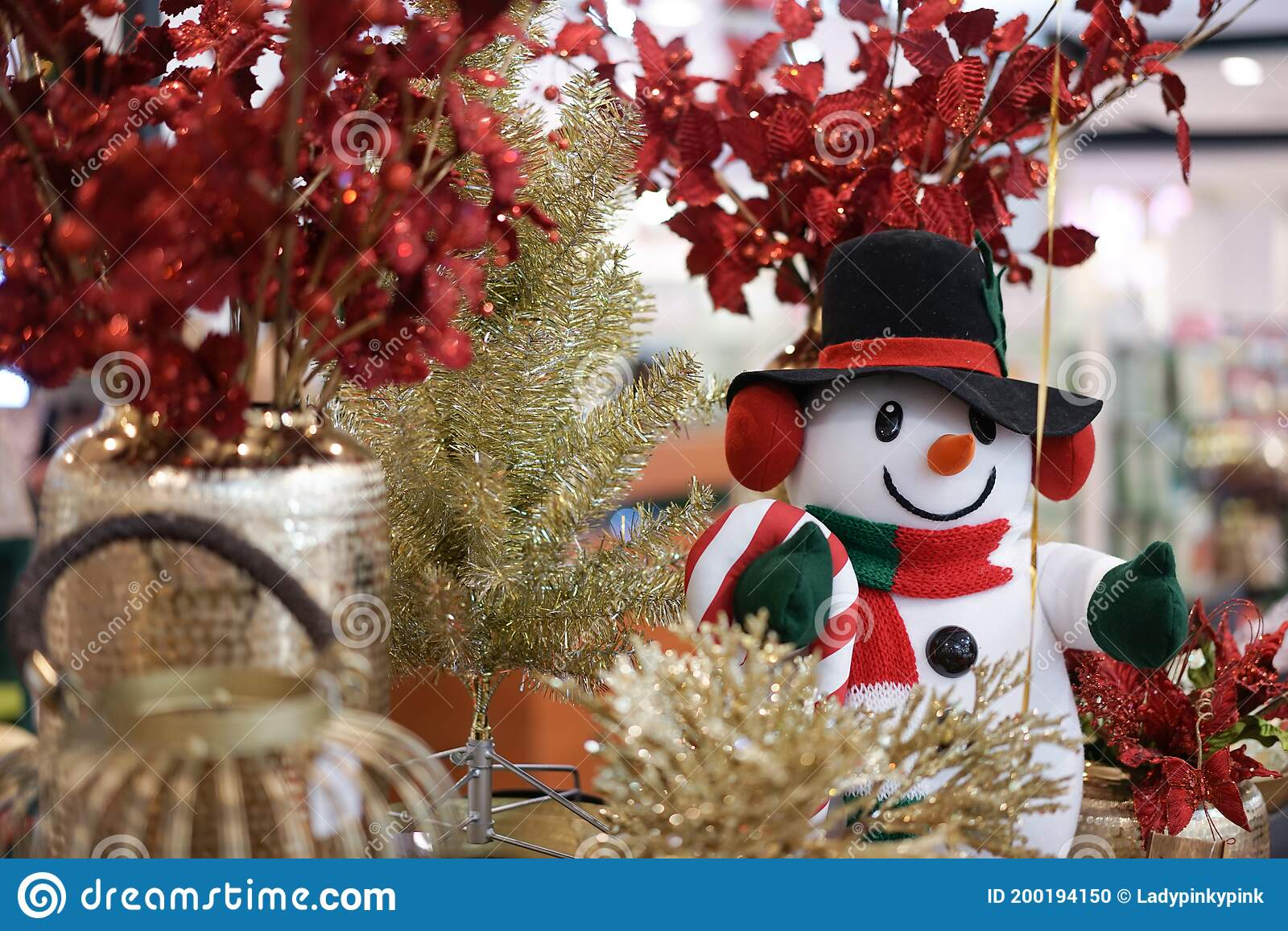Cute Snowman A Lovely Snow Man For Decorate A Christmas Tree Stock Photo Image Of Ornament Season 200194150