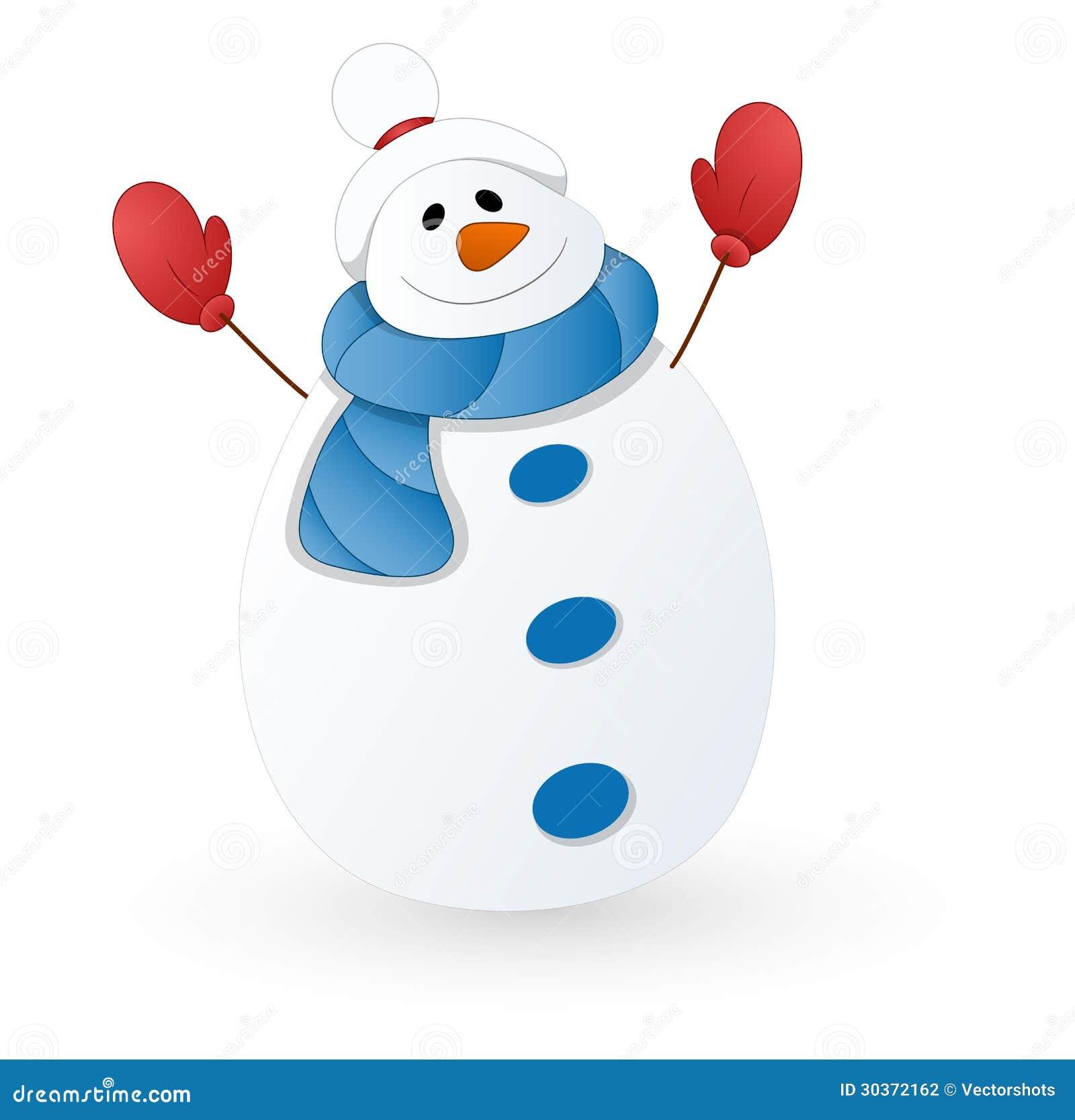 Cute Snowman Vector Illustration Stock Illustration ...