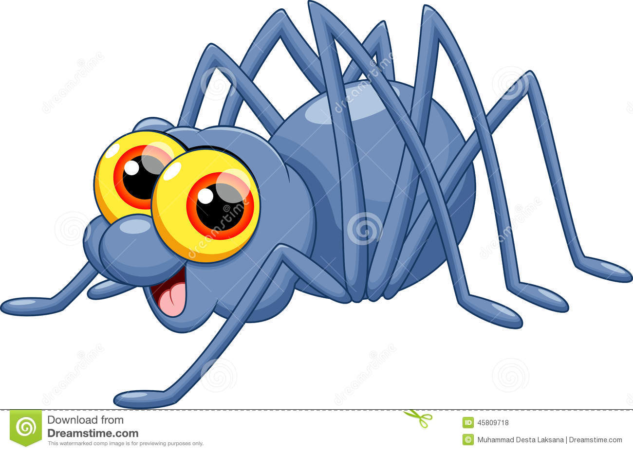 Cute Spider Cartoon Stock Illustration - Image: 45809718