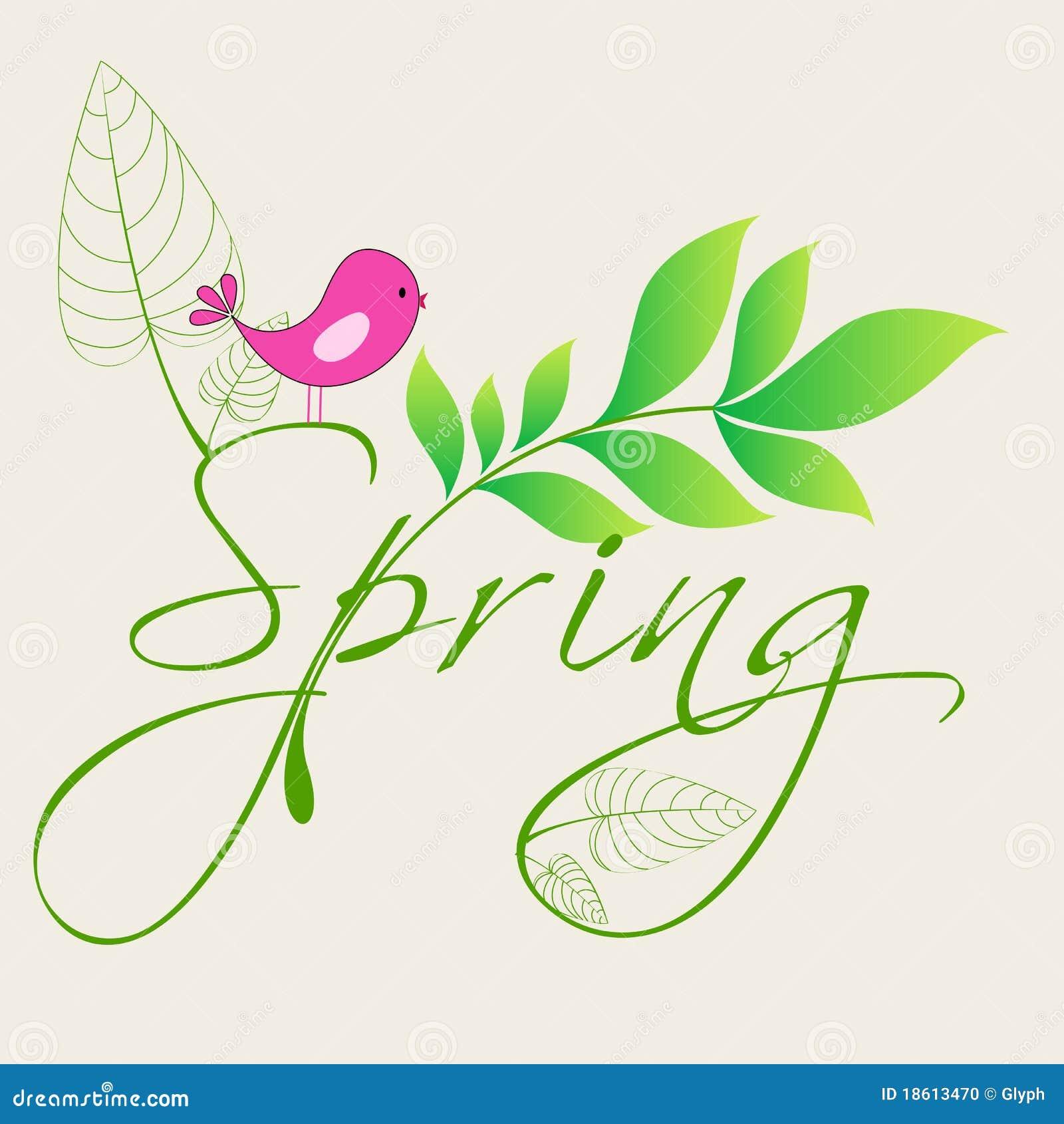 Cute Spring Bird Illustration Stock Vector - Illustration ...